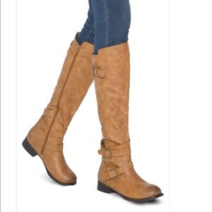Paulina Cognac Knee High Boots